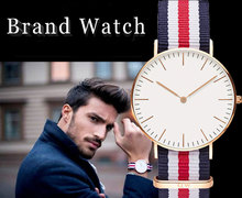 2015 Newest Brand Watch Women Men Nylon Strap Military Quartz Wristwatch Clock hombre 40mm
