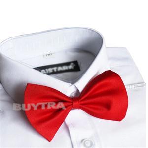 Red Black Kids Necktie Cute Boys Bow Tie Children Butterfly Type Necktie(China (Mainland))