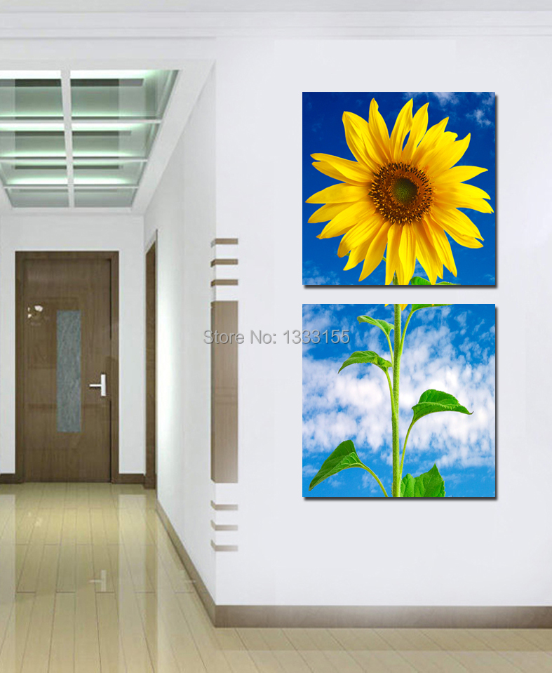 Giclee printing free shipping modern wall art 2 panels for Vertical wall art