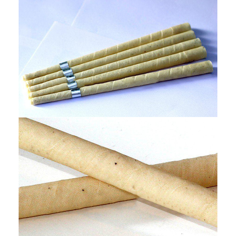 pure beeswax ear candle, unbleached organic muslin fabric,with protective disc Super Quality Authentic Natural Beewax Ear Candle(China (Mainland))