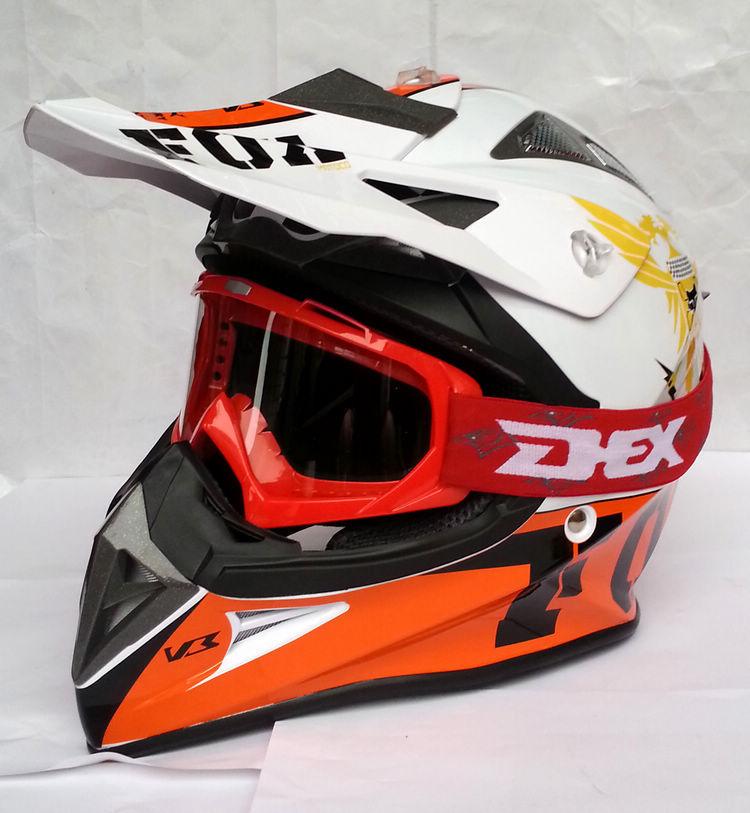 Fox Racing 2017 Race Adult V1 Motocross Motorcycle Helmets