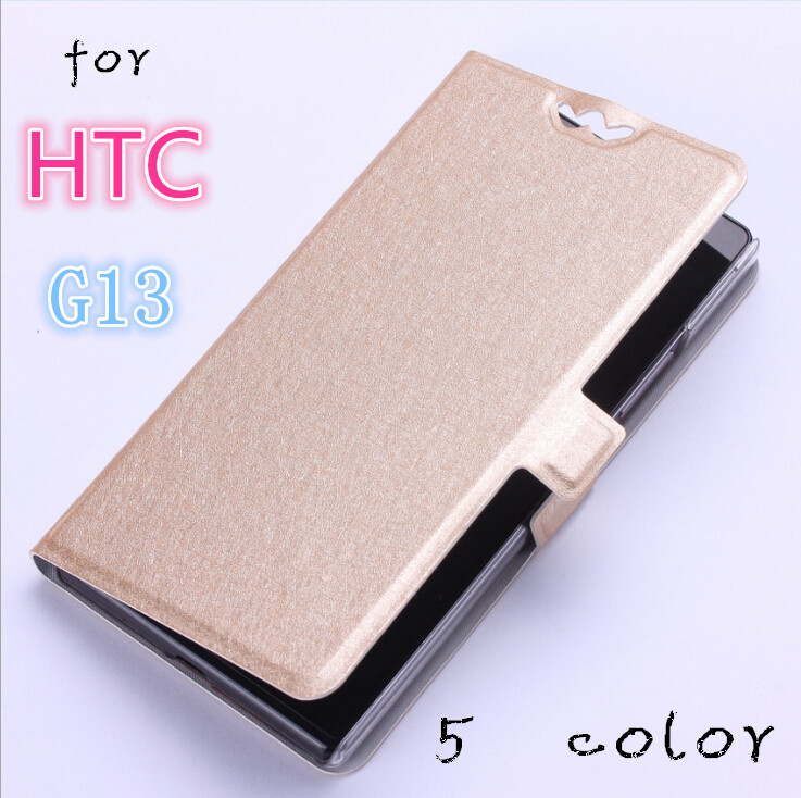 luxury filp case cover For HTC Wildfire S G13 A510e phone case leather slim clamshell silk design with stand function 5 color(China (Mainland))