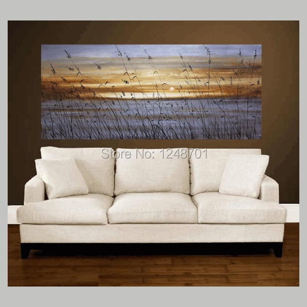Buy Hand Painted Abstract Art palette knife abstract oil painting living room wall painting art cheap