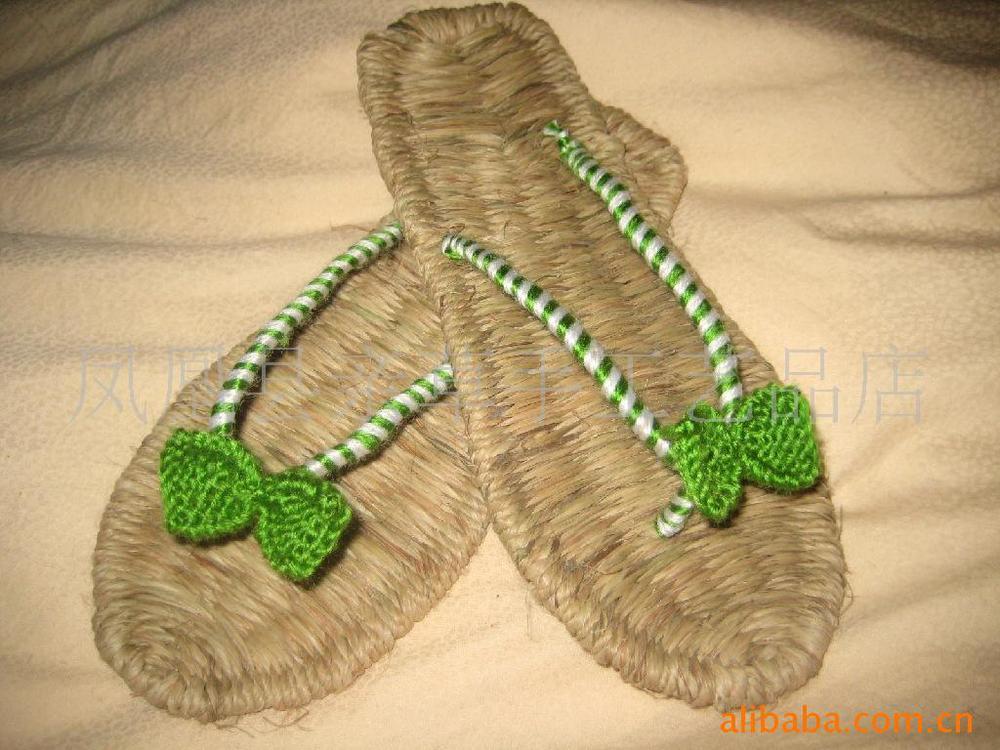 Handmade sandals slippers hemp shoes handmade bow sandals crochet sandals