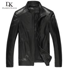 Luxury Genuine sheepskin leather jacket 2015 Brand Dusen Klein men slim Designer spring leather jackets 14B0109(China (Mainland))