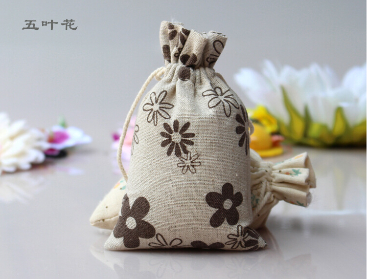 Buy 18 25 50pcs random pattern cotton for Drawstring jewelry bag pattern