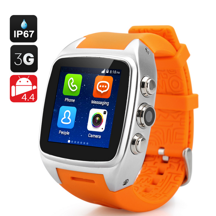 iMacwear SPARTA M7 Smart Watch Phone - 3G, IP67 Waterproof Rating, Android 4.4 OS, 1.54 Inch IPS Screen, Dual Core CPU (Silver)(China (Mainland))