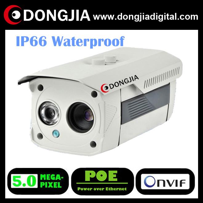 DONGJIA motion detection professional waterproof outdoor 5.0 mp hd cctv ip camera onvif bullet poe 5 mega pixel DA-IP8535TR-POE(China (Mainland))