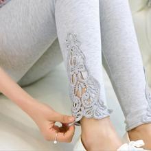 S- 7XL plus size leggings women sport leggings lace decoration white leggings size 7XL 6XL 5xl 4xl 3xl xxl xl L M S custom made(China (Mainland))