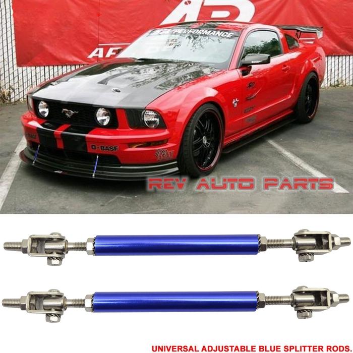 1 Pair Universal Steel Adjustable Car Racing Bumper Splitter Rods Strut Tie Bar Support(China (Mainland))
