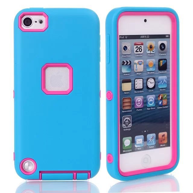 For Apple iPod Touch 5 5TH Hybrid Rugged 3 in 1 TPUPC Armor Impact Protective Combo Shockproof Case Cover(China (Mainland))