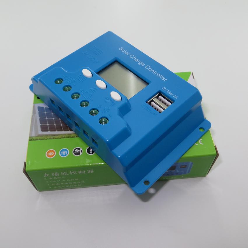 New type 10A 12V 24V intelligence Solar cells Panel Battery Charge Controller Regulators LCD 5V USB voltage adjustable(China (Mainland))