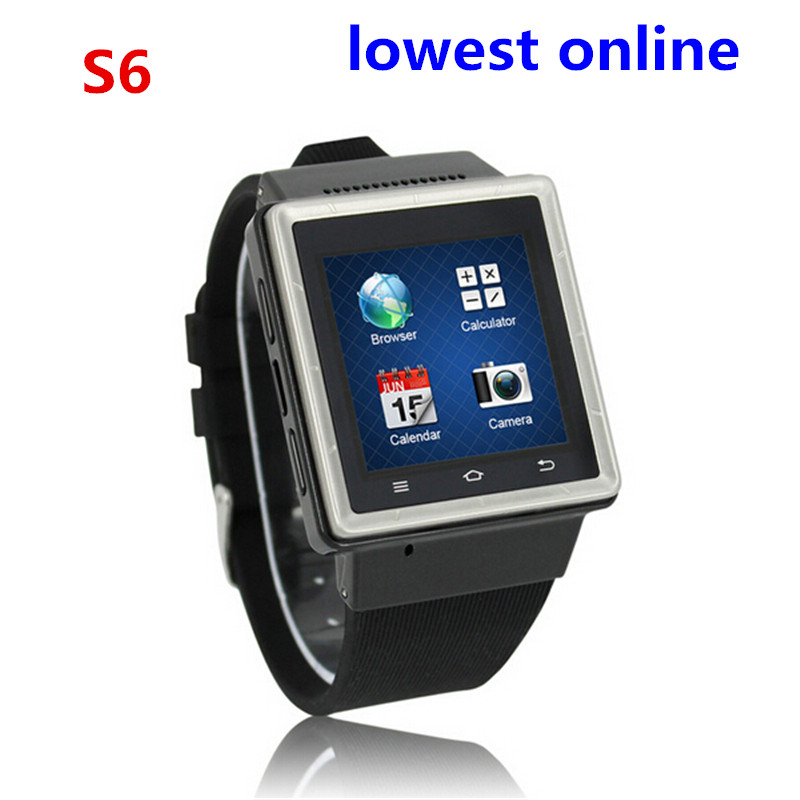 New ZGPAX S6 Unlocked Multi-functional Bluetooth Smart Watch with Android 4.04 with 8GB tf MTK6577 bluetooth watch for iphone(China (Mainland))