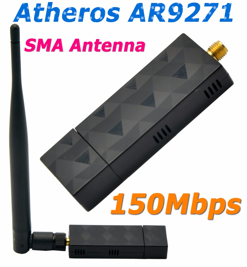 Atheros AR9271 150Mbps WiFi USB Adapter with 5DBi External Antenna Ethernet Adapter For Beini/ROS/Windows 7/8/10 Linux / Soft AP(China (Mainland))
