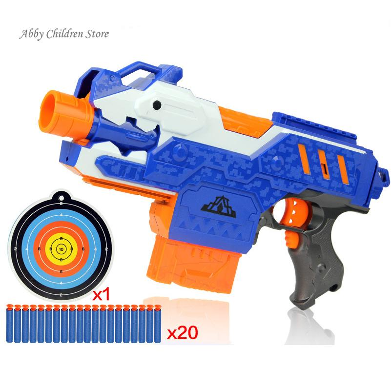 Nerf Gun Toy Sniper Rifle Plastic Gun Electric Soft Bullet Toy Gun 20 Bullets 1 Target Arma Orbeez Arme Children Birthday Gift(China (Mainland))