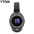 YTOM Foldable Bluetooth Headset LCD Display Stereo Handsfree Casque Audio Earphone Cordless Wireless Headphone support FM