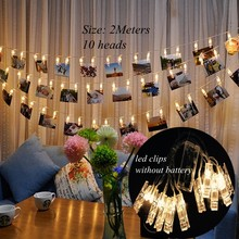 10PCS/set DIY Photo Frame Wooden Clip Paper Picture Garland For Wedding Baby Shower Birthday Party Photo Booth Props Decoration(China)