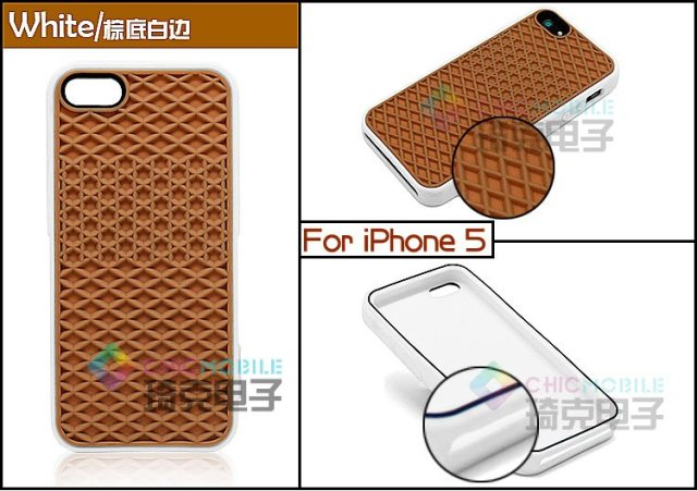 Free Shipping  100pcs Wholesale For an s Waffle Sole Silicone Rubber Case for iPhone 5 5G