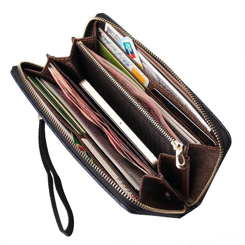 2016 new arrival leather men wallets quality PU long clutch fashion designer card holders business handbags clips purse pocket(China (Mainland))