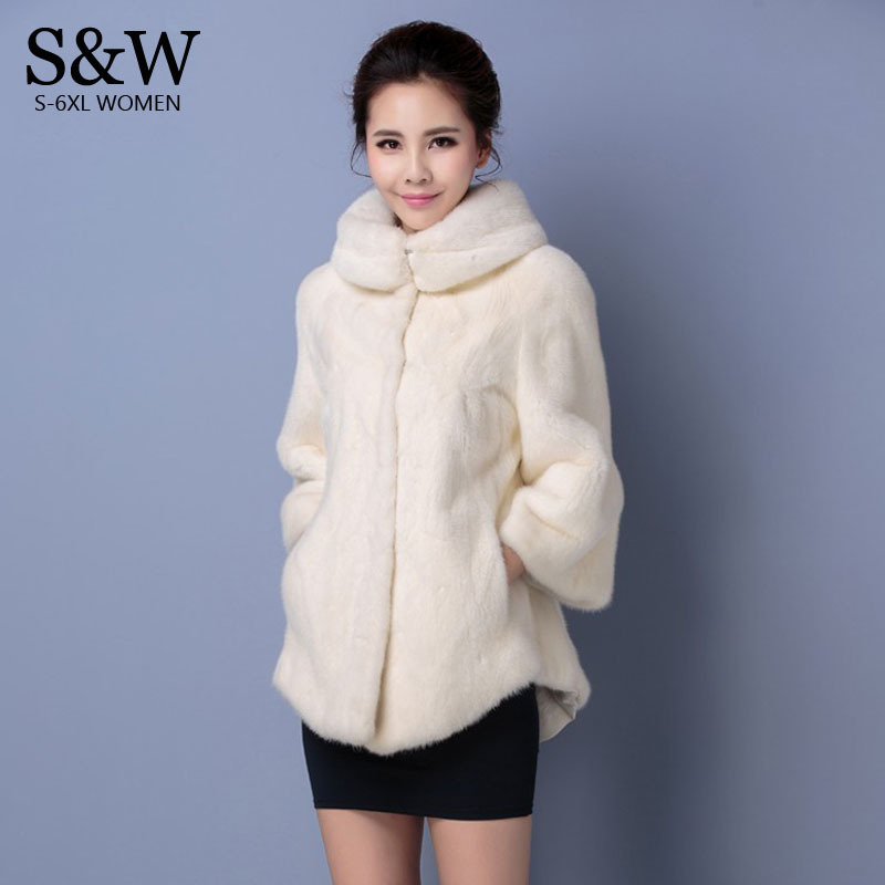 Plus Size 5XL 6XL Women Winter Coats Turtleneck White Synthetic Fur Coat Mink Fur Rabbit Fur Coat Fake Fur JacketsОдежда и ак�е��уары<br><br><br>Aliexpress