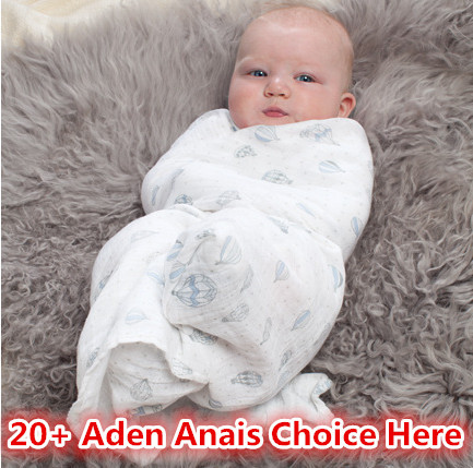 Aden Anais Muslin Cotton Newborn Baby Bath Towel Aden And Anais Swaddle Blankets Multi Designs Functions(China (Mainland))