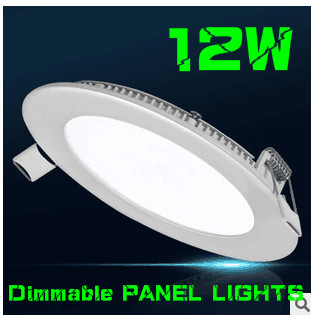 80pcsled downlight Ultra thin dimmable led panel light 12W Recessed LED Ceiling Round Shape Support Dimmer DHL FREE(China (Mainland))