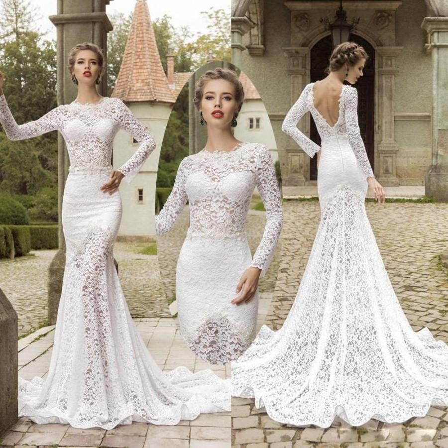 Buy sexy 2015 wedding dresses with long for Wedding dress long sleeves