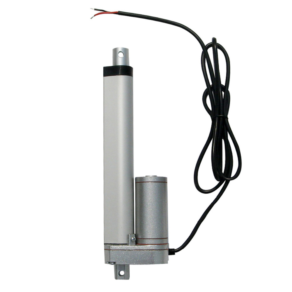 150mm=6 inches stroke 12V DC 150KG load 5.7mm/sec speed mini electric linear actuator linear tubular motor motion(China (Mainland))