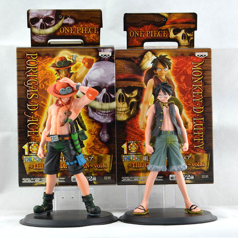 Figura Luffy One Piece Anime Figuarts Zero Monkey D. Luffy + Ace 17cm PVC Action Figure Kids Toy Gift Japanese Anime Figures(China (Mainland))