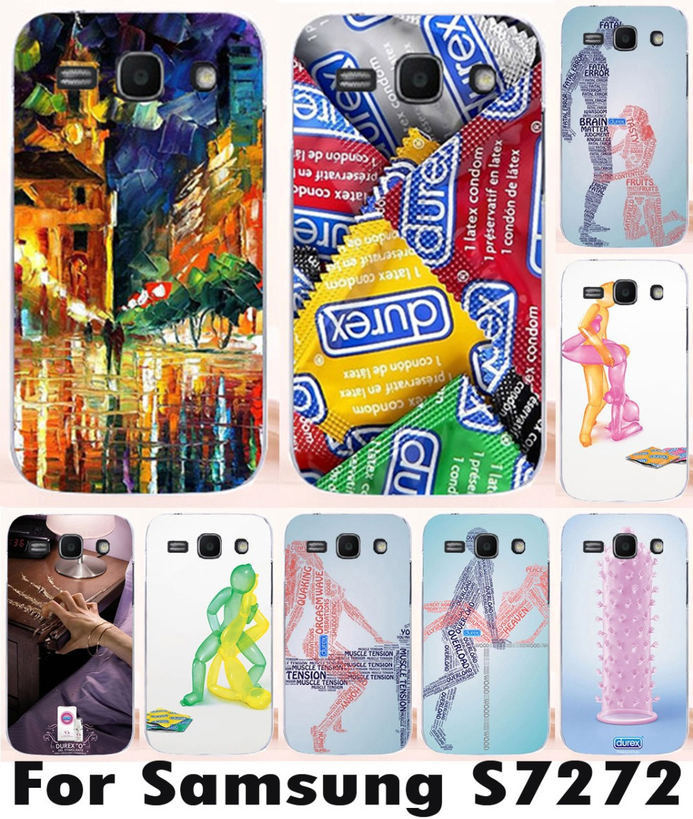 For Samsung Galaxy Ace 3 III S7270 S7272 durex condom phone case plastic mobile phone case cover(China (Mainland))