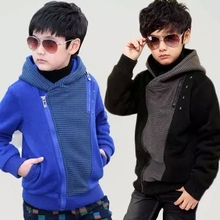 2014 New Spring Boys Tracksuits Children Clothes korean Style Kids Outerwear Black & Blue Children Hoodies Jacket & Coats(China (Mainland))