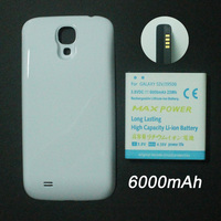 Battery for Samsung Galaxy S4 i9500, 3.8V brand new 6000mAh high-capacity lithium  replacement battery + white Back Door Cover