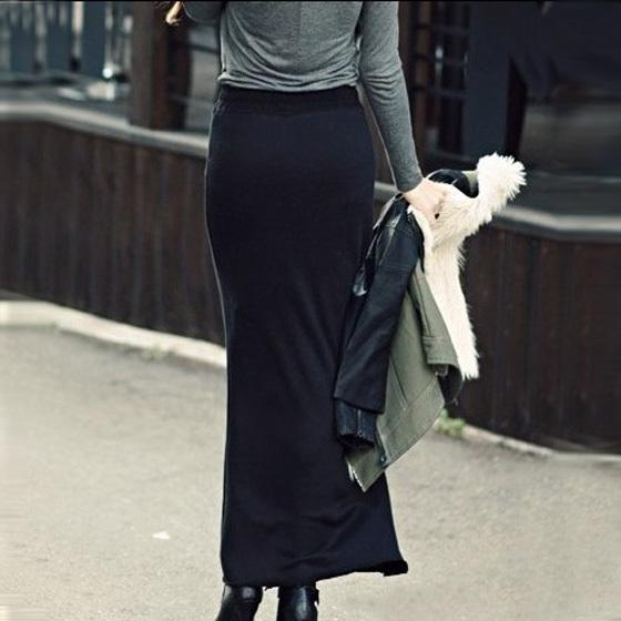 Ankle length straight black skirt – Modern skirts blog for you