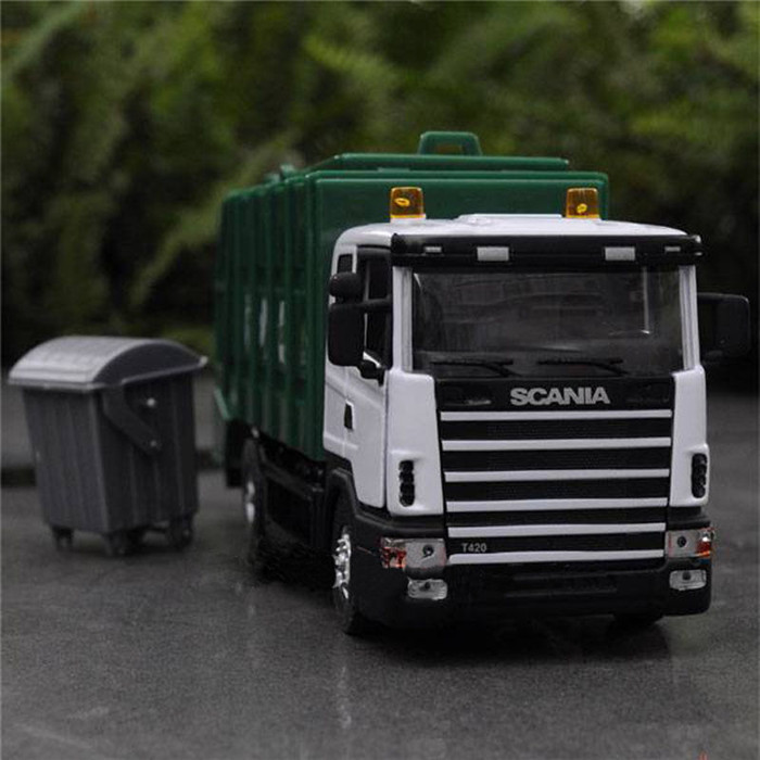 1:43 SCANIA Garbage truck vehicle scale models Diecast truck Model toys Collection(China (Mainland))