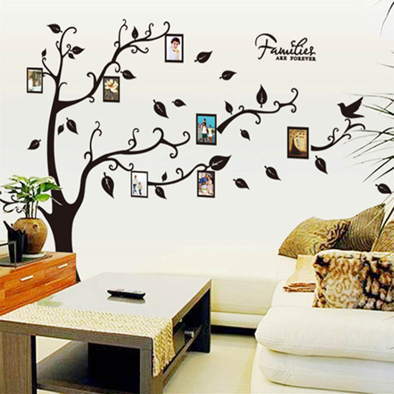 Family Picture Photo Frame Tree Wall Art Stickers Vinyl Decals Home Decor(China (Mainland))