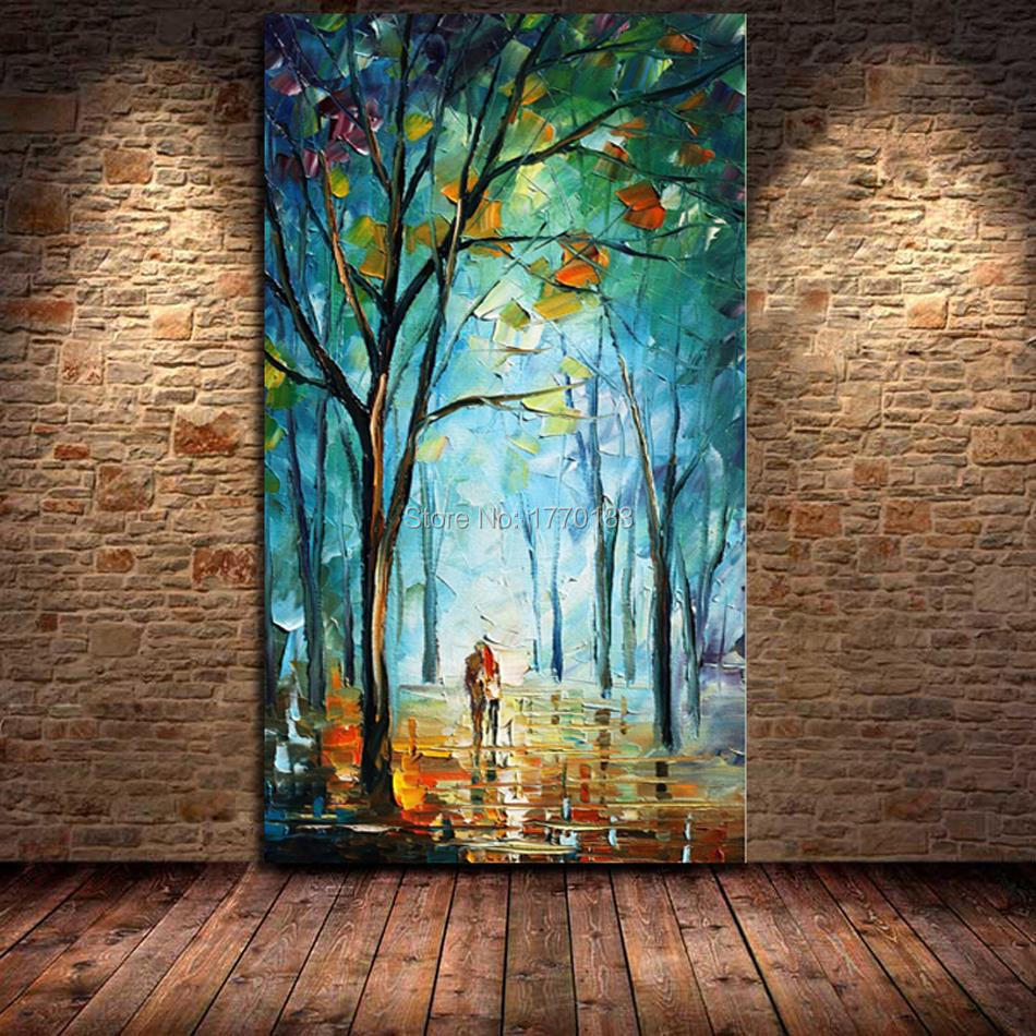 100 hand painted big size modern design knife oil canvas for Oil paintings for the home