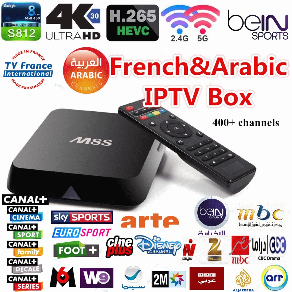 French &amp; Arabic IPTV Quad core M8S TV Box with 2GB/8GB 3months leadtv for Bein sports Canal plus Kids MBC Sky Europe sports<br><br>Aliexpress