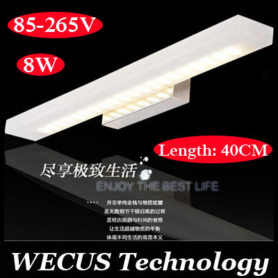 (WECUS) updated! Modern led mirror front lamps, bathroom / toilet wall lamp,  color temperature can be adjusted,85-265V 40CM 8W<br><br>Aliexpress