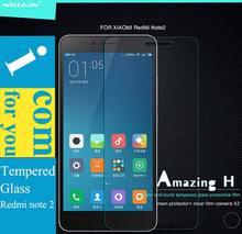 Подлинная Nillkin удивительный н закаленное стекло протектор для Xiaomi редми примечание 2 красный рис Hongmi примечание 3 9 H 0.33 мм