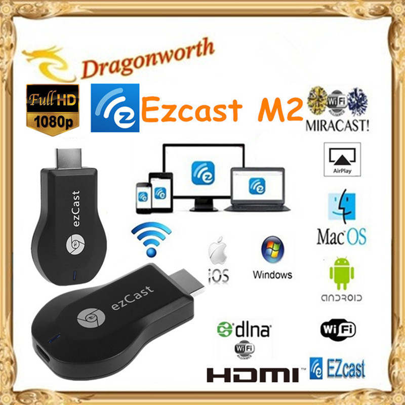 2016 Ezcast M2 HDMI TV receiver Chromecast Ezcast DLNA+Miracast+Airpaly TV Dongle for Smart Phone Laptop Window PC IOS Android(China (Mainland))