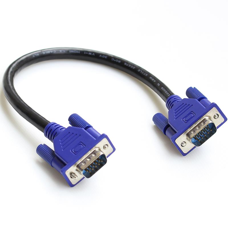 """25cm/10"""" HD15Pin VGA D-Sub Short Video Cable Cord Male to Male M/M Male to Female and Female to Female for Monitor(China (Mainland))"""