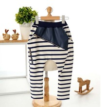 Children Harem Pants Strip Spliced Boys Girls Cotton Harem Pants For Kids Trousers Fashion Clothes(China (Mainland))