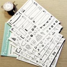 6 Sheets/lot DIY Calendar Paper Sticker for Scrapbooking Scrapbook Calendar Diary Planner Photo Album Decor Kids Children(China (Mainland))