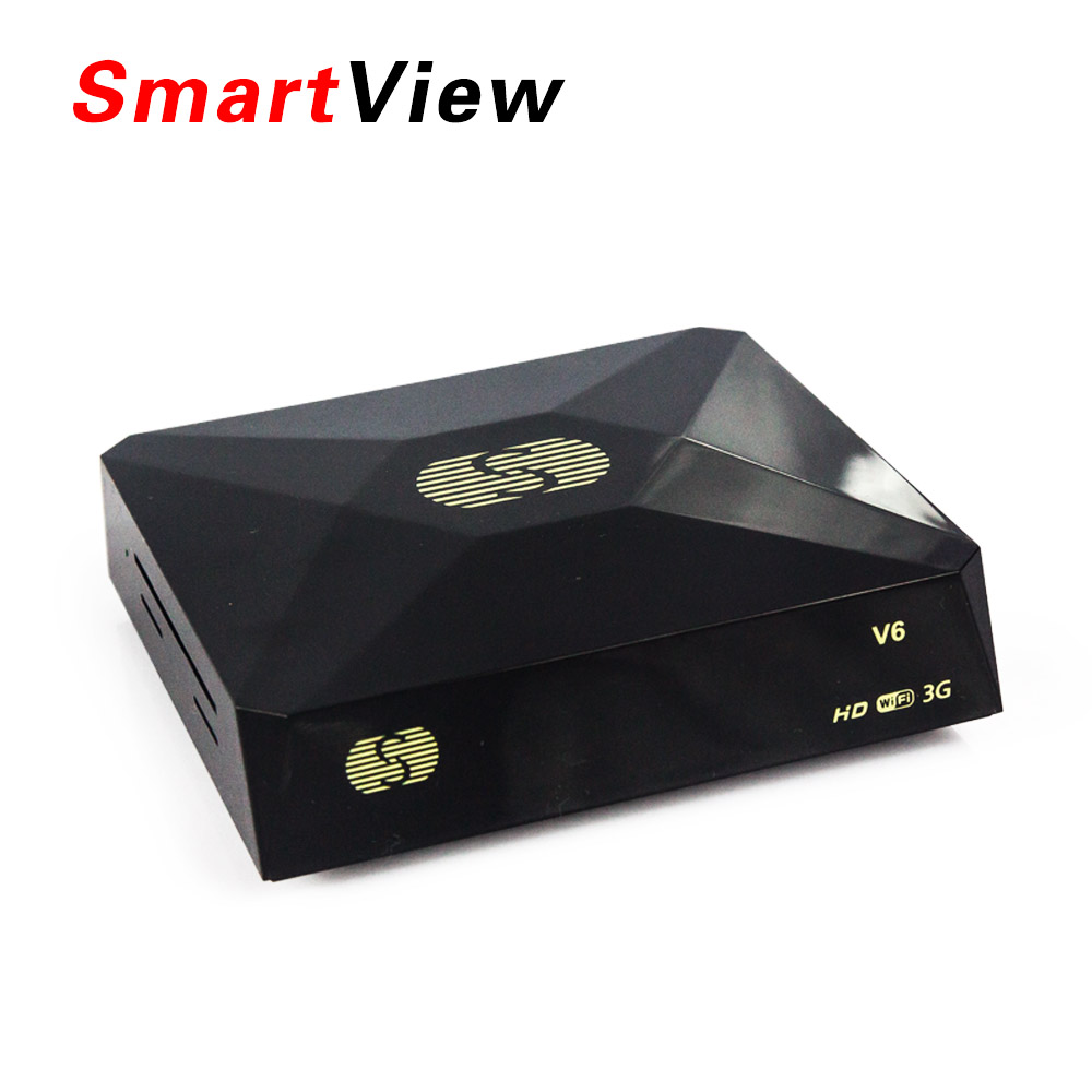 S-V6 Mini Digital Satellite Receiver with AV HDMI output Support 2xUSB WEB TV USB Wifi 3G Biss Key Youporn(China (Mainland))