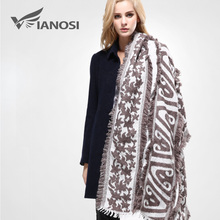 [VIANOSI] 2016 Women's Cozy Tartan Blanket Scarf Wrap Shawl Neck Stole Warm Brand Soft Cotton Scarves Woman VA083