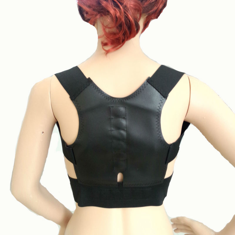 Women's Men's Back Posture Corrector Support Corset Back Support Upper Back Posture Correct Magnetic back therapy products B001(China (Mainland))