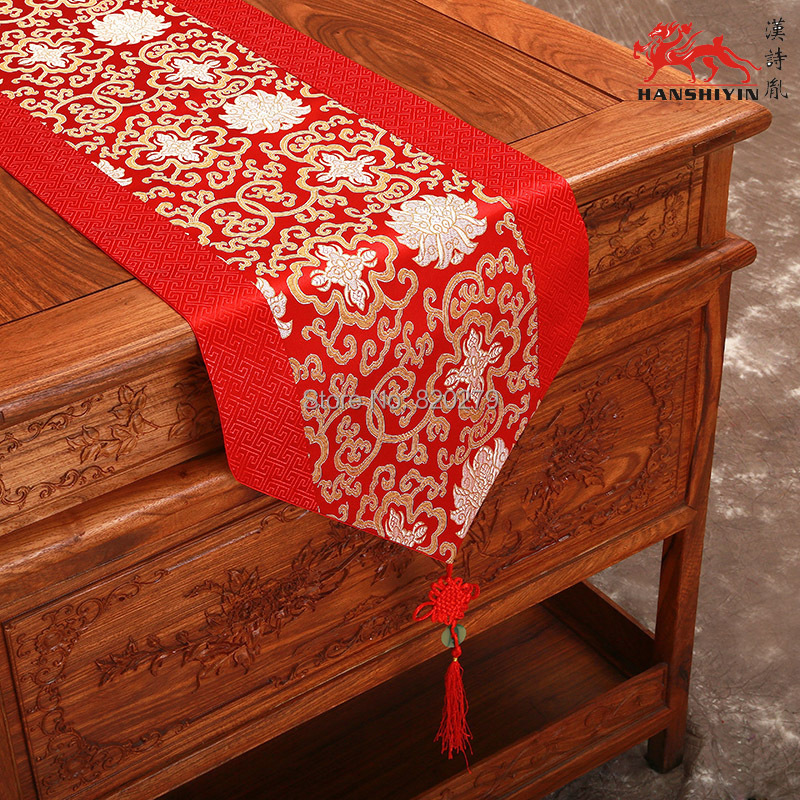 120 inches extra long chinese knot patchwork luxury table
