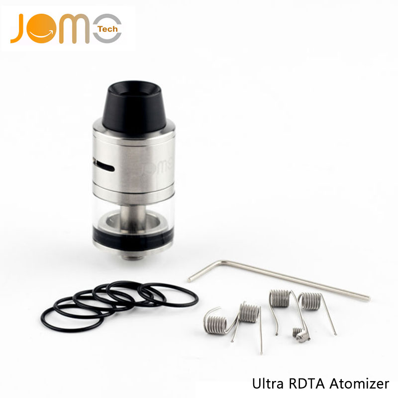 Original Jomotech Dual Coil DIY RDTA Vapor Atomizer Replaceable Glass Ultra RDTA Atomizer VS Tornado RDTA For smok tfv8 Jomo-172(China (Mainland))