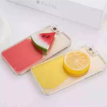 Freeshipping Rushed New Cute 3D Summer Red Watermelon Qlemon Phone Case Hard Transparent Cover For font