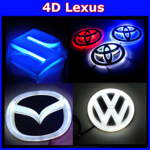 wholesales LEXU S 4D Car Laser Light Car Badge LED Lamp Car Emblem Led Light Auto Led Logo Light 10sets(China (Mainland))